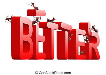 Besser, rot zu verbessern