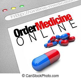 Bestell Medizin online - Web-Screen