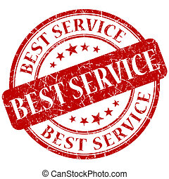 Bester Service-Red-Stempel