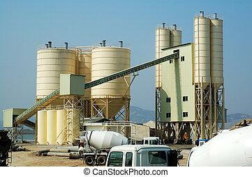 beton, fabrik
