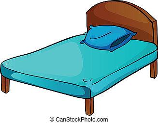 Bett und Kissen