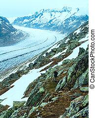 (bettmerhorn, switzerland), groß, gletscher, aletsch