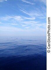 bewässern blauen himmel, meer, wasserlandschaft, horizont, gelassen, scenics