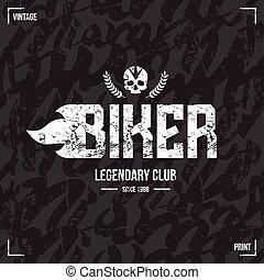 Biker Club Emblem und nahtlose Muster