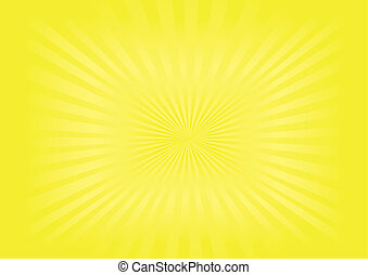 bild, vektor, -, sunburst