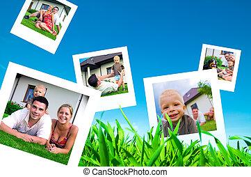 Bilder von glücklicher Familie