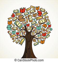 Bildungsbaum mit Büchern