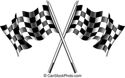 Billige Flaggen Motorrennen.
