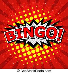 bingo!, komiker, vortrag halten , bubble.