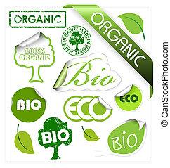 Bio, Öko, organische Elemente.