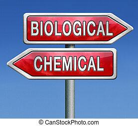 Biologisch oder chemisch.