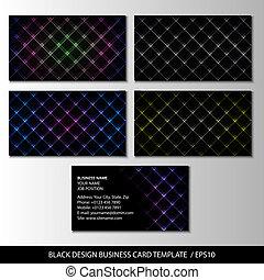 Black Design Visitenkarte Vorlage, abstrakte Vektorgrafik.
