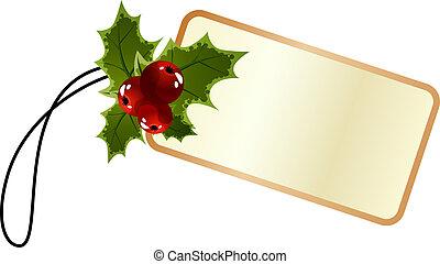 Blanke Promo-Weihnachtsmarke mit Holly