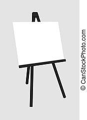 Blanke weiße Tafel isoliert auf weißem Hintergrund