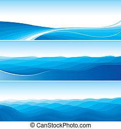Blaue Abstrakte Wellenhintergrund