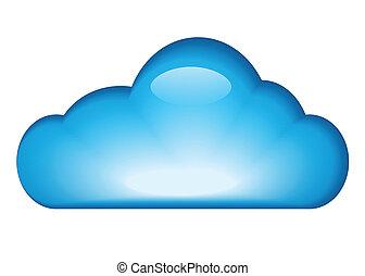 Blaue Glutwolke