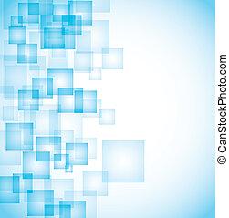 Blaue Quadrate abbrechen
