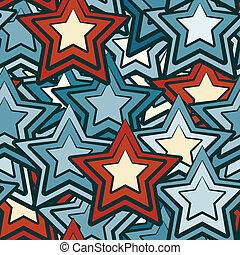 Blaue Sterne nahtlos