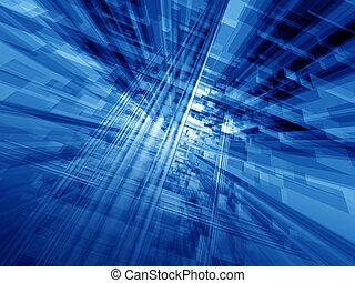 Blauer Cyberspace