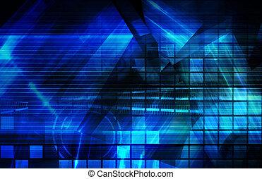 Blauer Firmen Hintergrund