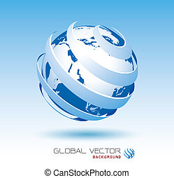Blauer globaler Vektor-Hintergrund