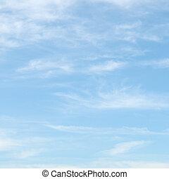 blauer himmel, wolkenhimmel, licht