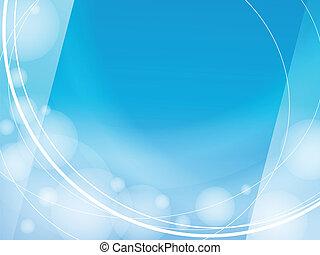 blauer hintergrund, licht, rahmen, design, schablone, wellen
