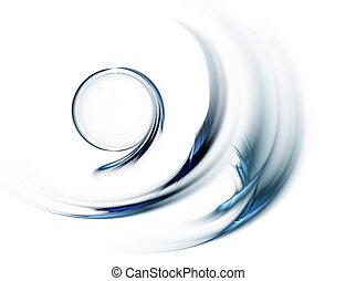 Blauer Kreis in schneller Bewegung, rotierend