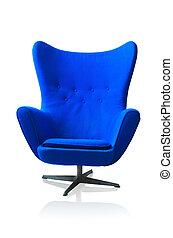 blauer stuhl, modern