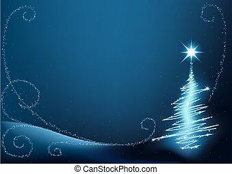 Blauer Weihnachtsbaum