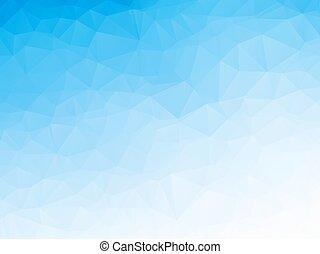 blaues, abstrakt, eiswasser, vektor, hintergrund, geometrisch