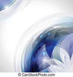 blaues, bewegung