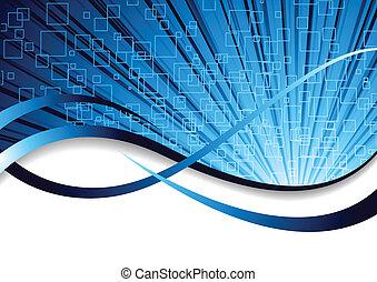 blaues, farbe, abstrakt, vektor, hintergrund