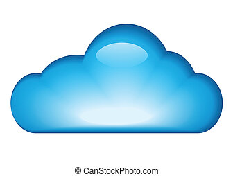blaues, glänzend, wolke