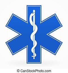 Blaues medizinisches Zeichen