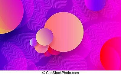 blaues, rosa, kreise, farbe, licht, abstrakt, formen, hintergrund, geometrisch