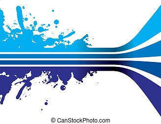 blaues, spritzen