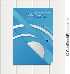 blaues, stil, format, material, element, vektor, a5, a4, broschüre, design, korporativ, oder
