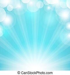 blaues, sunburst