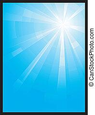 Blaues vertikales Assymmetrisches Licht ist geplatzt