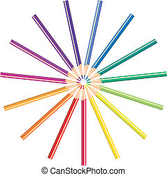 bleistifte, farbe, abbildung, vektor