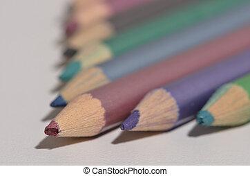 bleistifte, farbe, anordnung