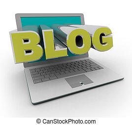 Blog auf einem Laptop