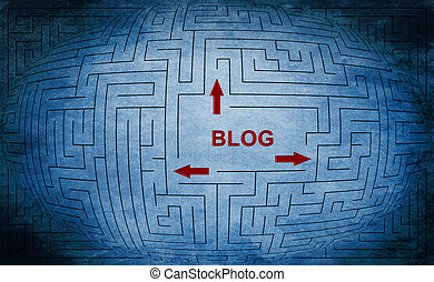 Blog Labyrinth Konzept.
