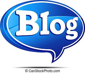 blog, sprechblase