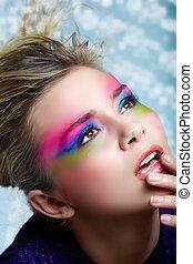 Blond mit Make-up