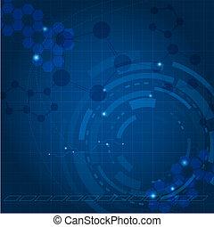 Blue Tech Hintergrund.