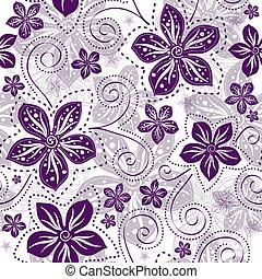 blumen muster, seamless, white-violet