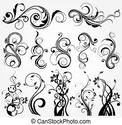 Blumendesign-Elemente