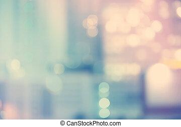 Blurred Blue Cityscape Hintergrundszene.